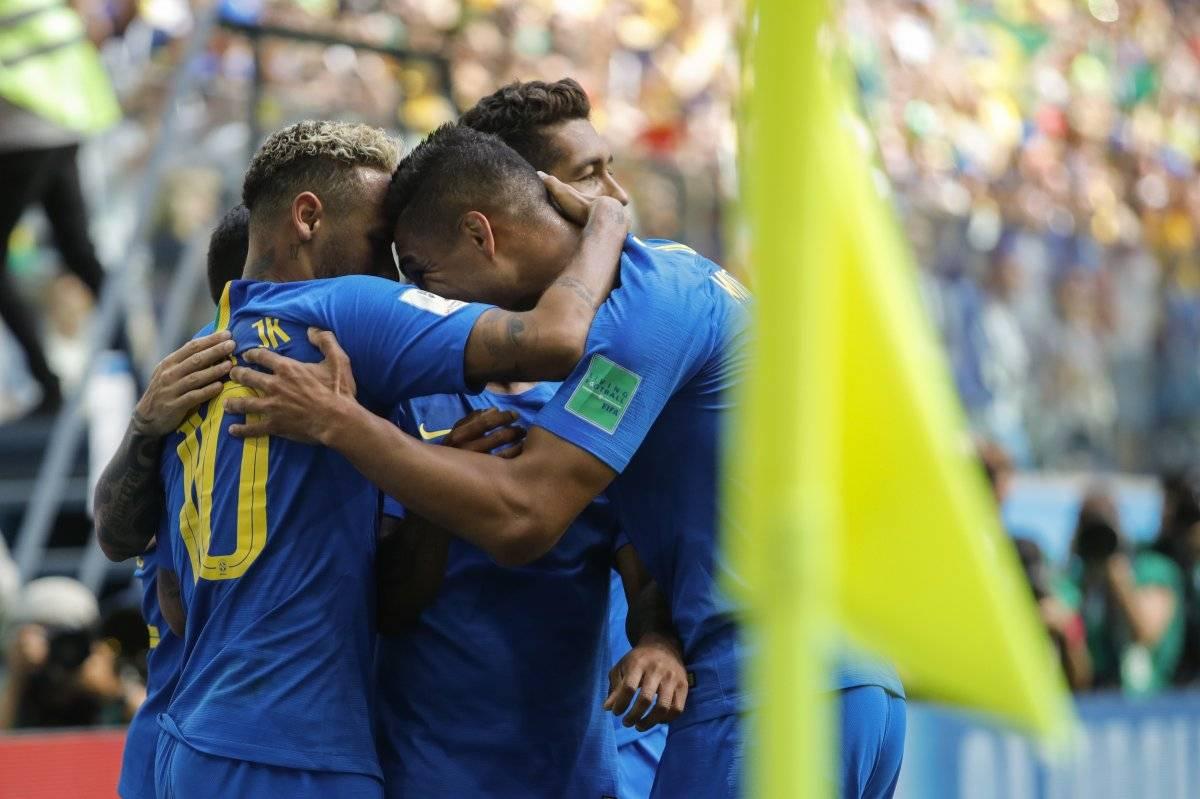 El llanto de Neymar después de Brasil vs Costa Rica AP