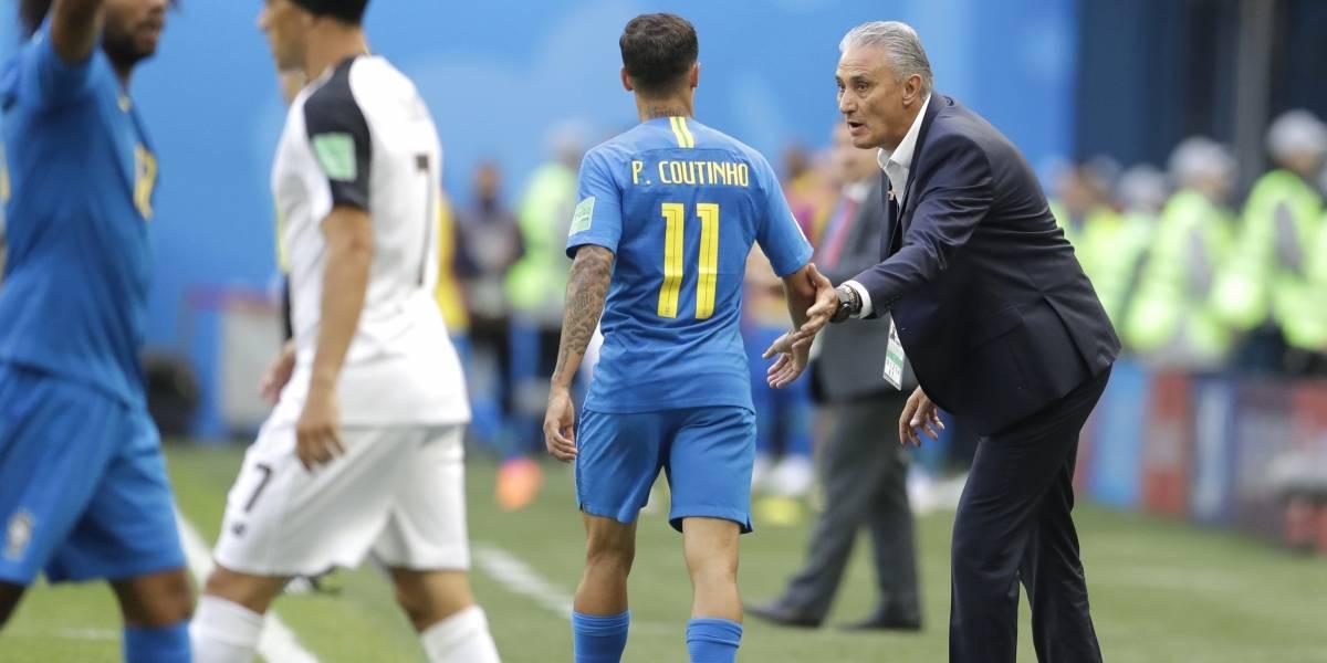 """Tite confiesa que se lesionó al celebrar el gol de Coutinho en el Mundial: """"Creo que me rompí"""""""