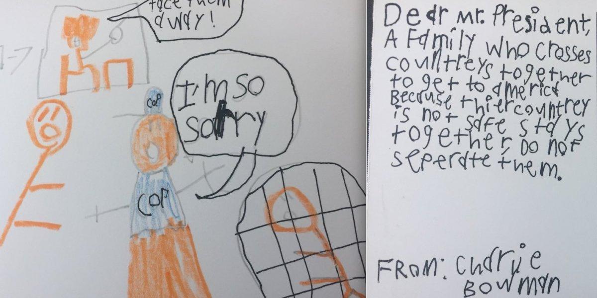 Las desgarradoras cartas que niños envían a Trump sobre la separación de familias en la frontera
