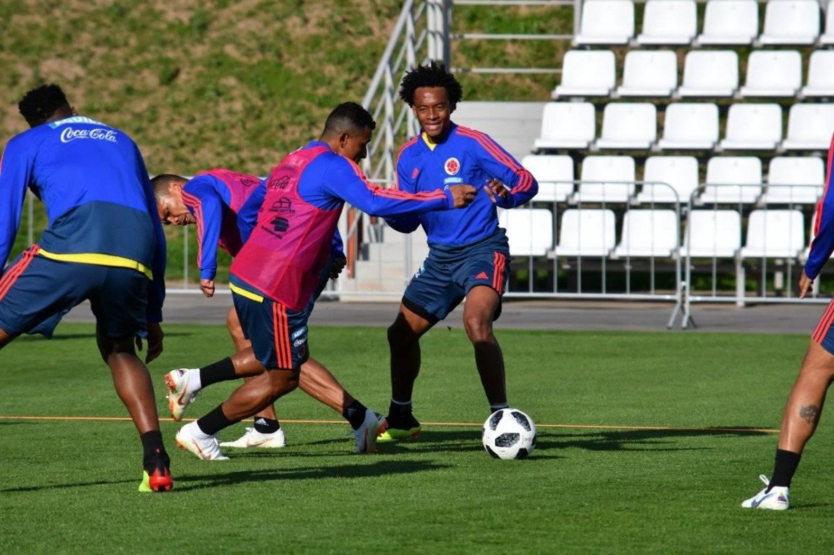 Colombia en su último entrenamiento para enfrentar a Polonia Selección colombiana/ Twitter