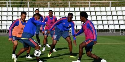Colombia en su último entrenamiento para enfrentar a Polonia