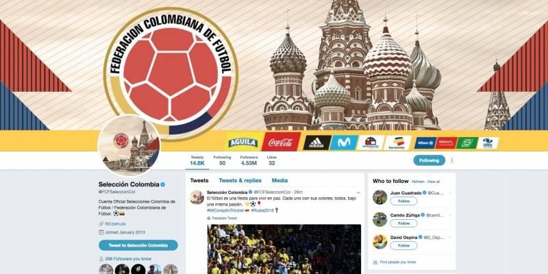 La Selección Colombia es el segundo equipo de fútbol de un país con más seguidores en Twitter