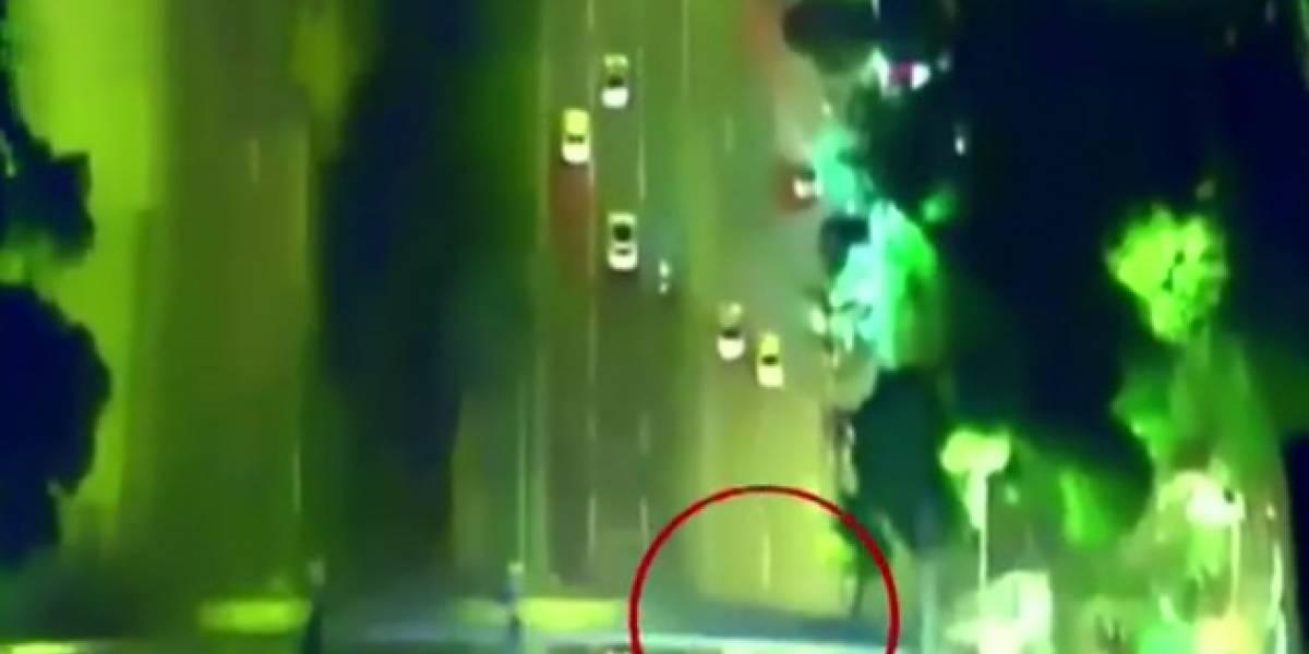 Al estilo de Hollywood, robo de motocicleta termina en persecución a alta velocidad