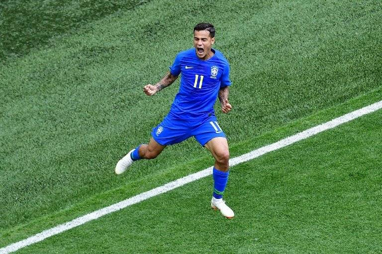 Coutinho celebra su gol ante Costa Rica
