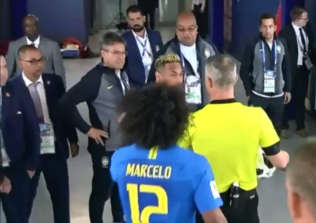 Marcelo neymar vestiario futebol