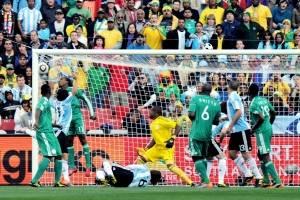 Argentina sólo sabe de celebrar ante Nigeria en los Mundiales / image: Getty Images