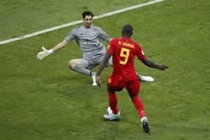 Momento en que Lukaku marca el tercer tanto ante Panamá
