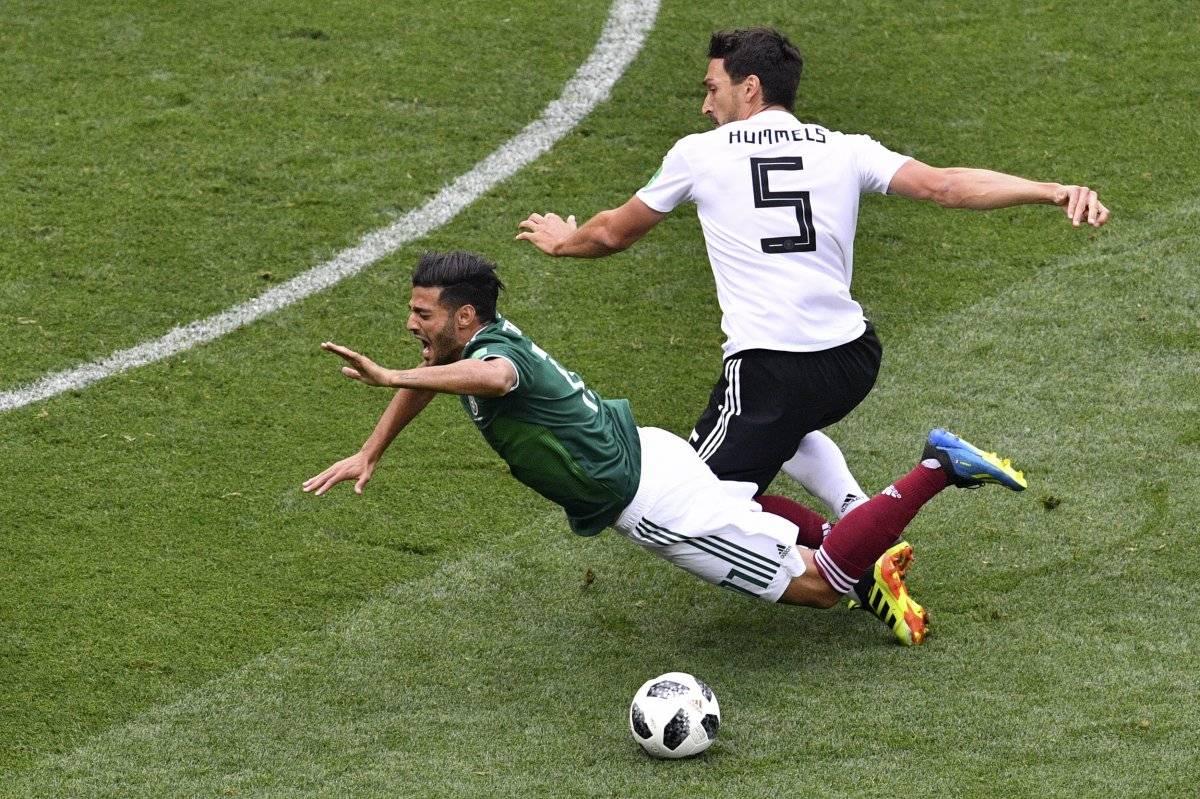 El defensa alemán durante el partido ante México