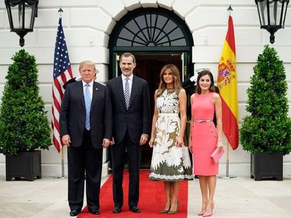 Letizia Rey Felipe Donald Trump