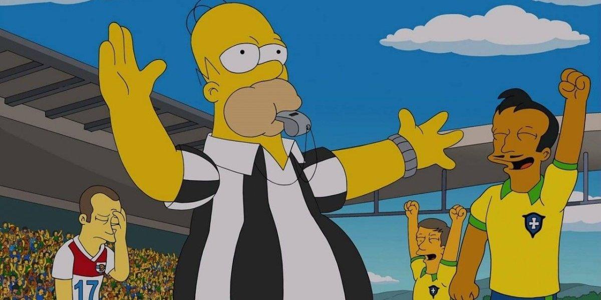 """Los Simpson lo hicieron de nuevo: """"¡No hay penalti para la selección de Brasil!"""""""