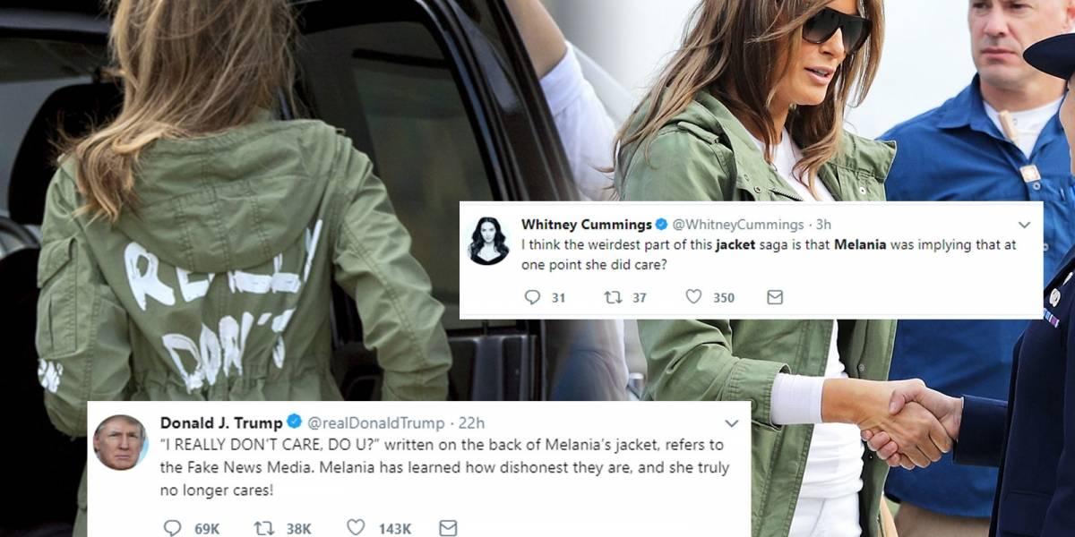 """Celebridades reaccionan al """"De verdad que no me importa"""" de Melania Trump en su chaqueta de Zara"""