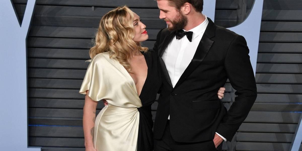 ¿Y no nos invitaron? Una fuente asegura que Miley Cirus y Liam Hemsworth se casaron en secreto