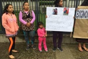 Manifestación frente a la embajada de Estados Unidos contra la leyes migratorias de ese país.