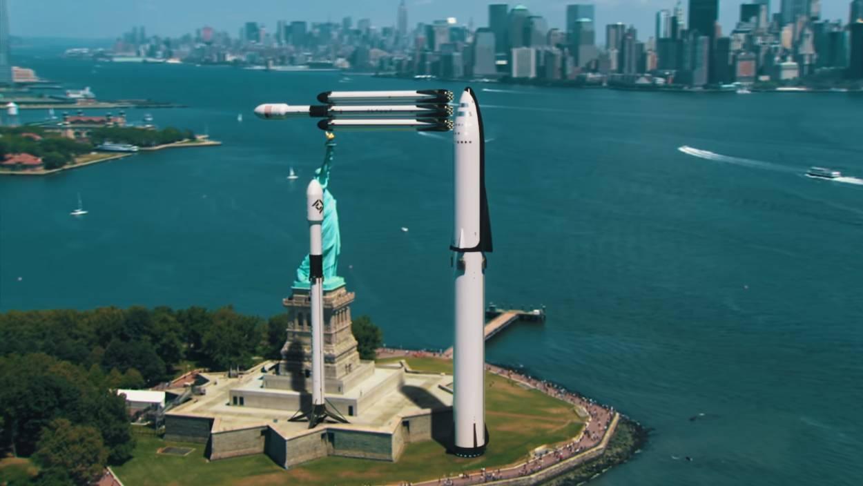 Elon Musk difunde video que muestra el tamaño real de sus cohetes SpaceX