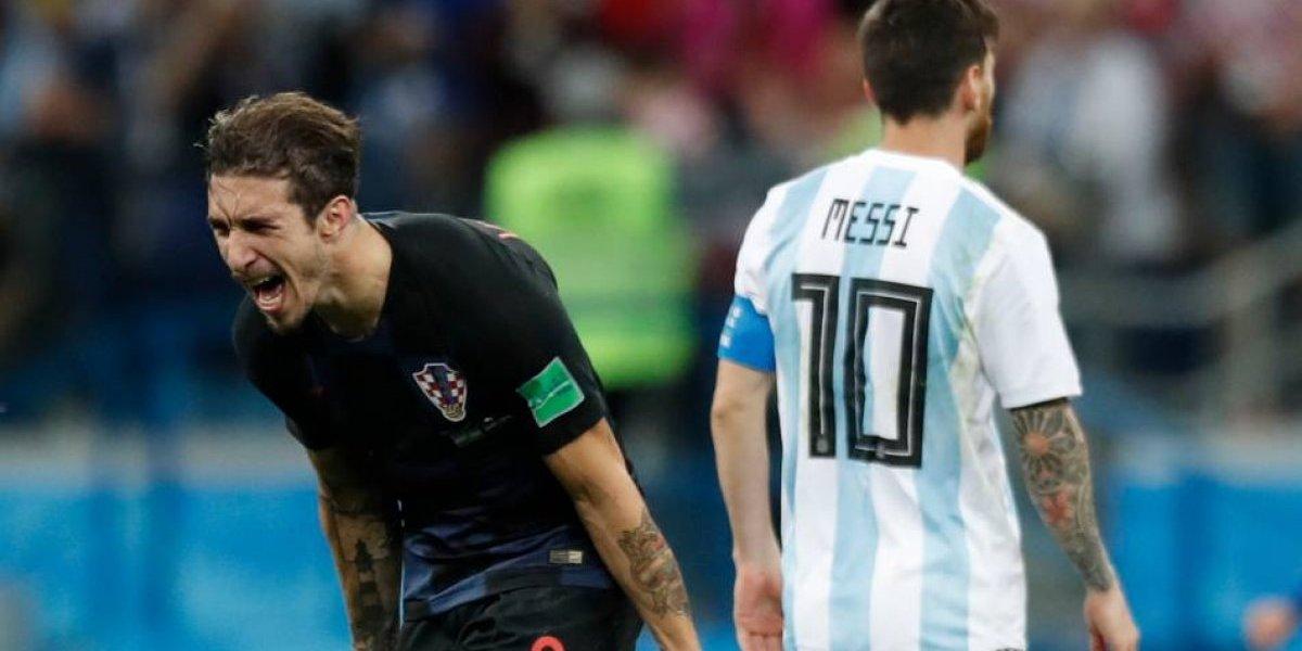 """La machista frase de Vrsaljko para responderle a Sampaoli y burlarse de Argentina: """"Los vi caer al piso y llorar como niñas"""""""