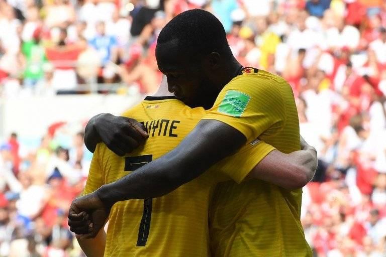Kevin de Bruyne y Lukaku se funden en un abrazo
