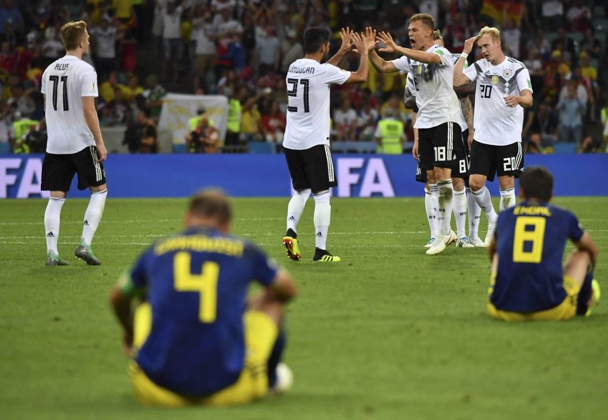 Suecia se derrumbó sobre el final