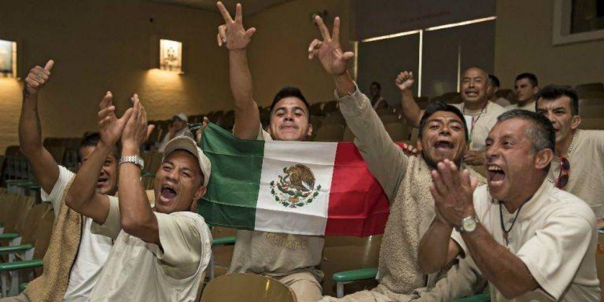 Presos celebran victoria de México ante Corea del Sur