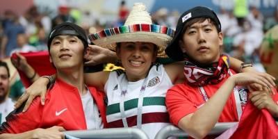 TORCIDA mexicana contra a Coreia do Sul