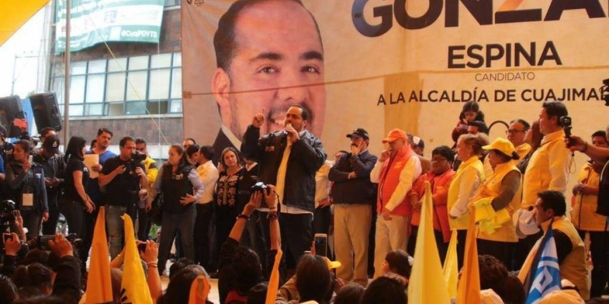 Sacaré al PRI y regresaré a Cuajimalpa la paz que exige: Gonzalo Espina
