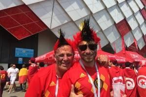 Estos aficionados belgas previo al partido de su selección