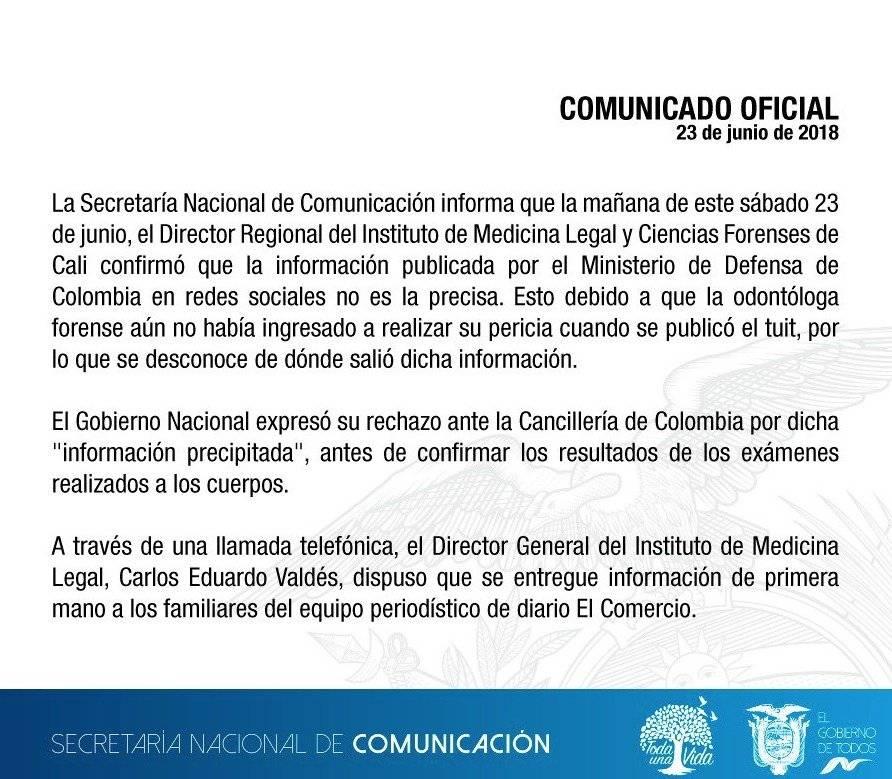 Gobierno de Ecuador Twitter