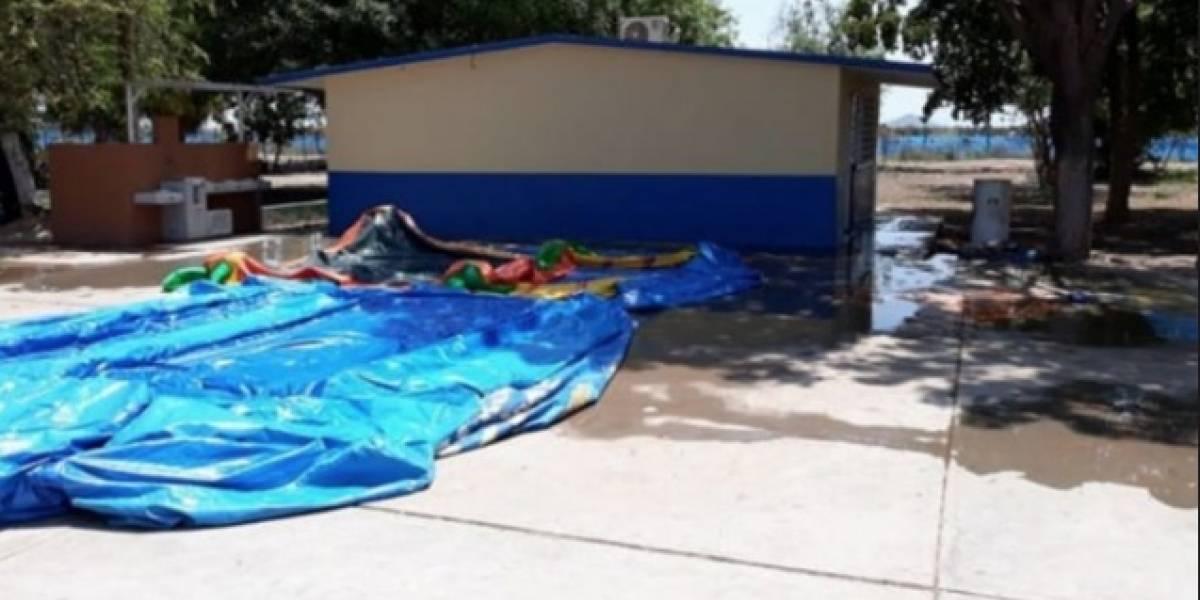 Niño muere electrocutado mientras jugaba en un inflable