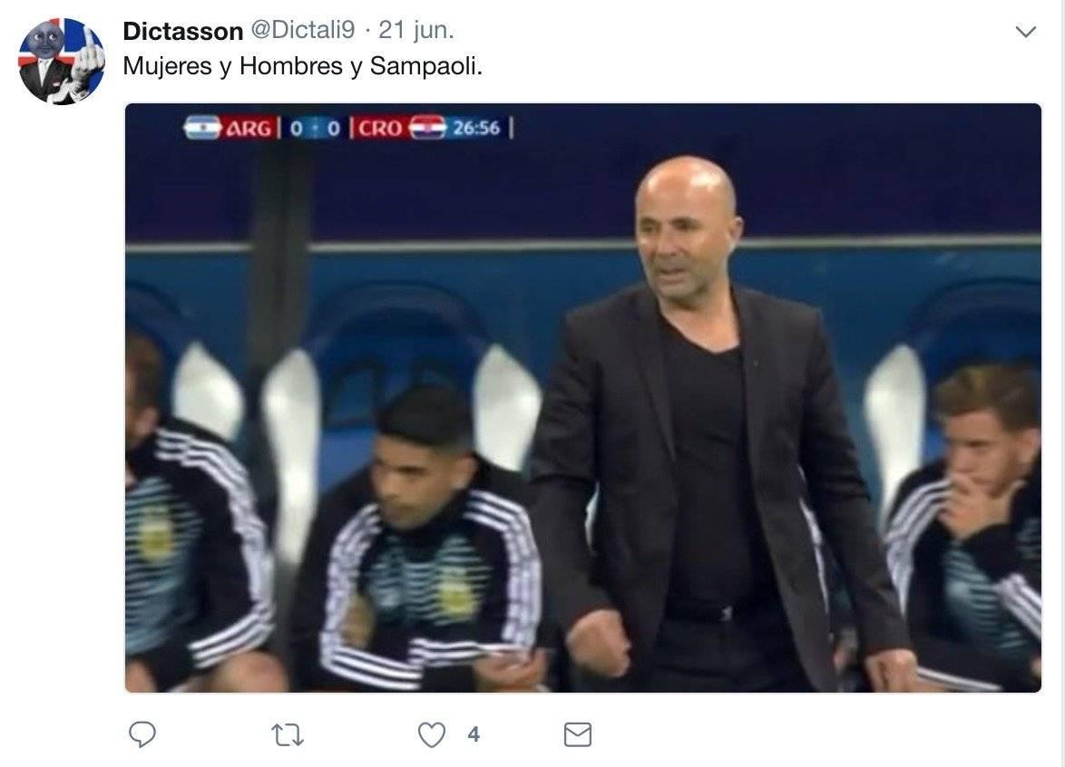 Sampaoli no es del agrado de los aficionados argentinos