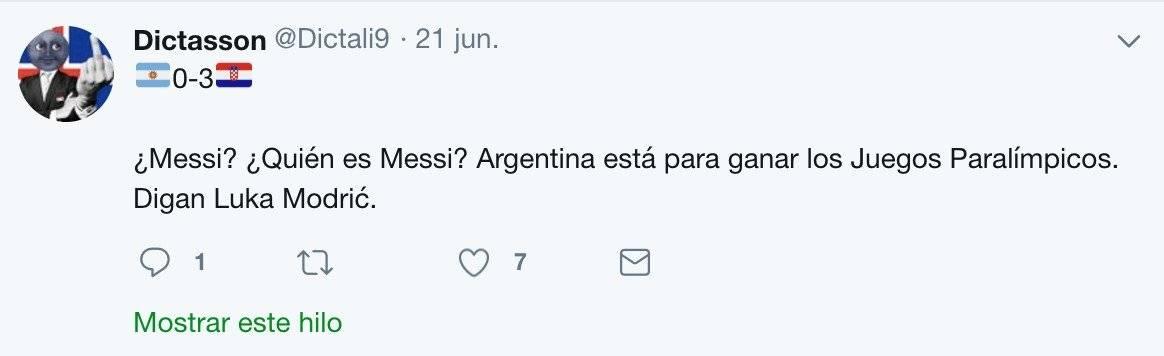 Tuit para Messi
