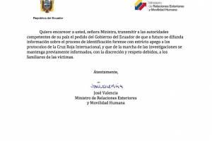 Nota de protesta de Ecuador a Colombia
