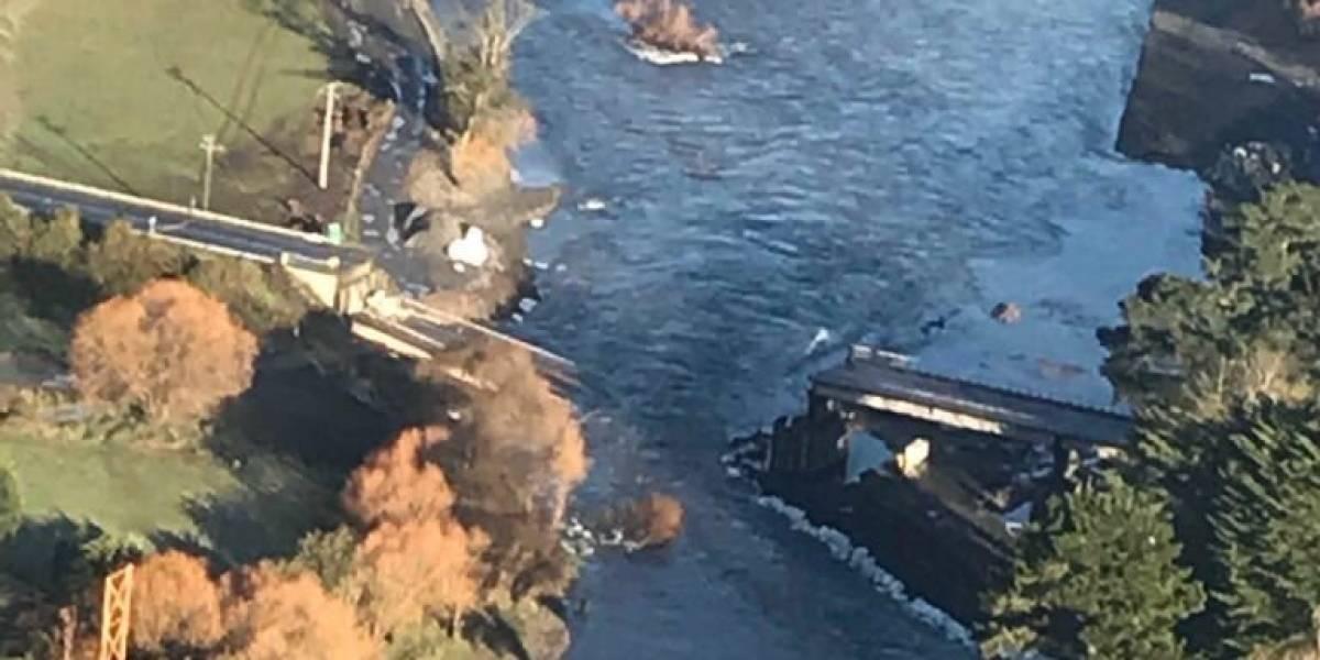 El fatal colapso del puente Cancura: impactante video muestra como quedó el paso que une Osorno con Puerto Octay