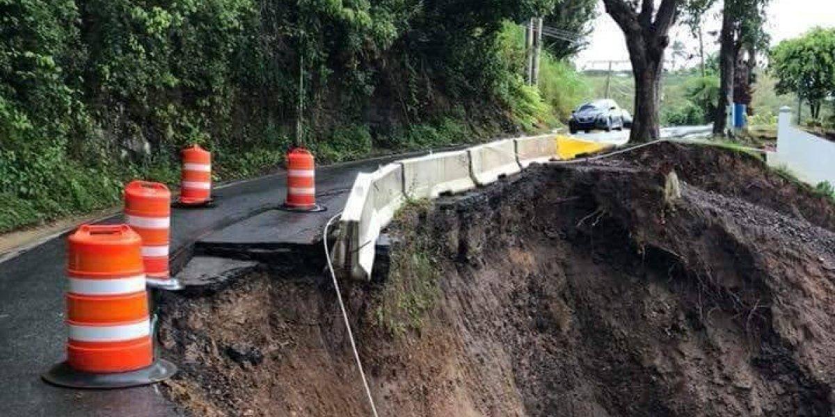 Conozca cuáles carreteras están cerradas por las lluvias y derrumbes de hoy