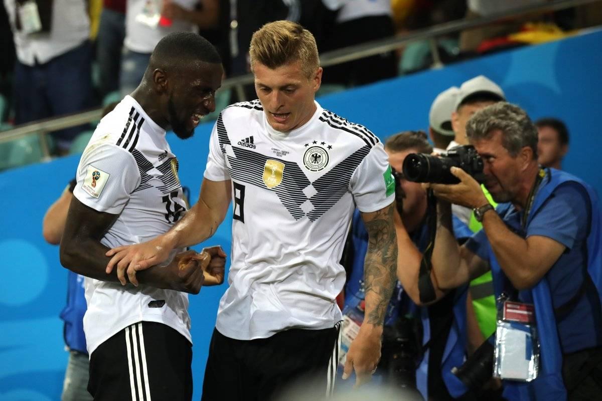 Triunfo de Alemania en tiempo de compensación Getty images