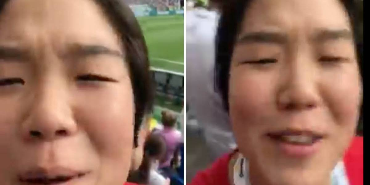 Corea del Sur vs México: Hincha coreana 'trollea' a un fanático mexicano