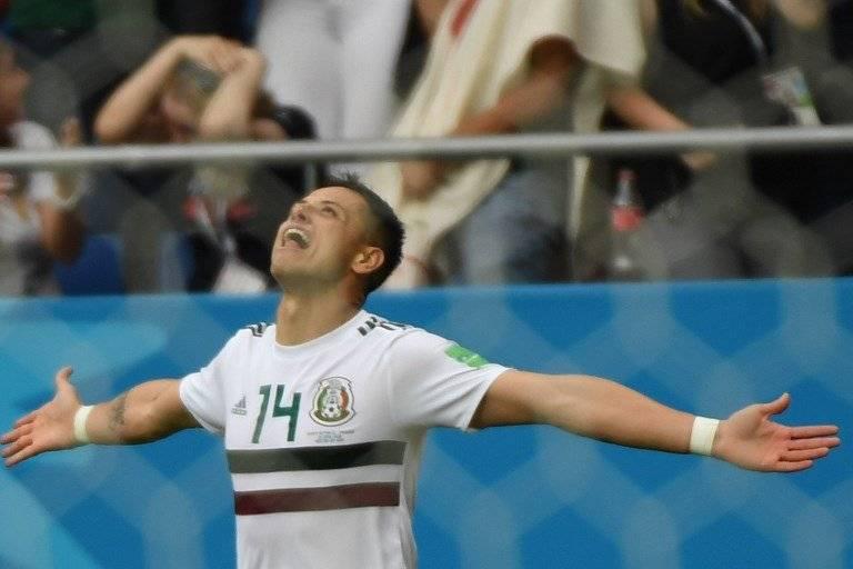 Chicharito volvió a celebrar un tanto con el combinado mexicano