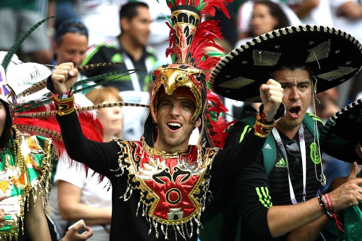 Los mexicanos entonaron con mucho sentimiento el himno nacional |GETTY IMAGES
