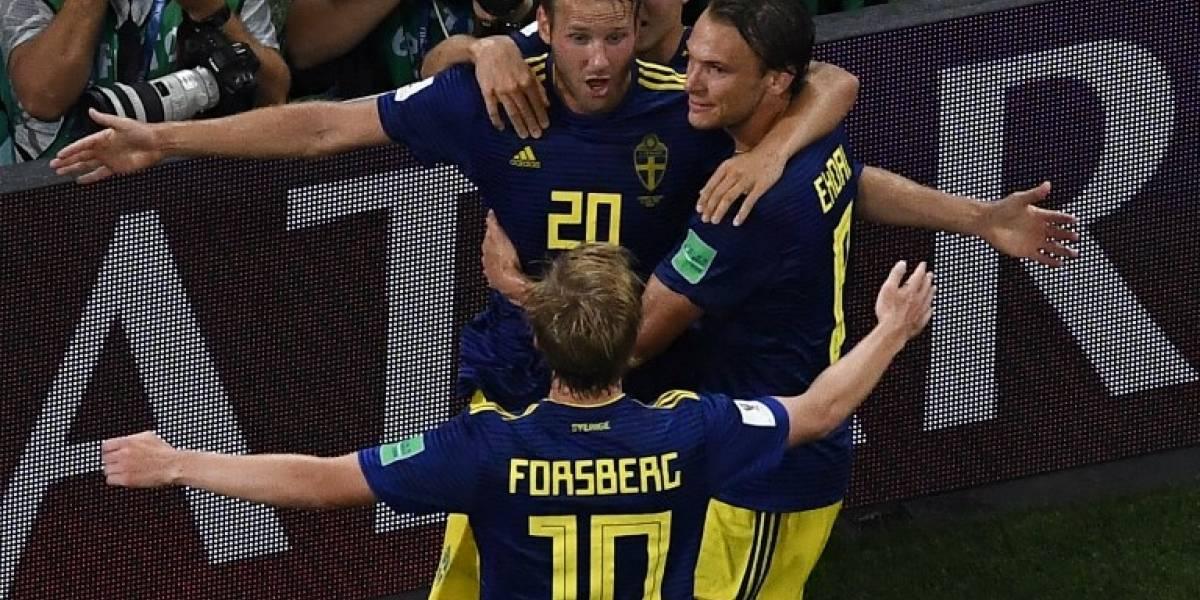 La reacción en las redes tras el gol de Suecia