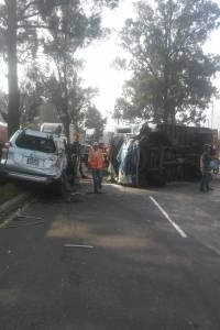 Accidente de tránsito en el kilómetro 26 de la ruta al Pacífico.