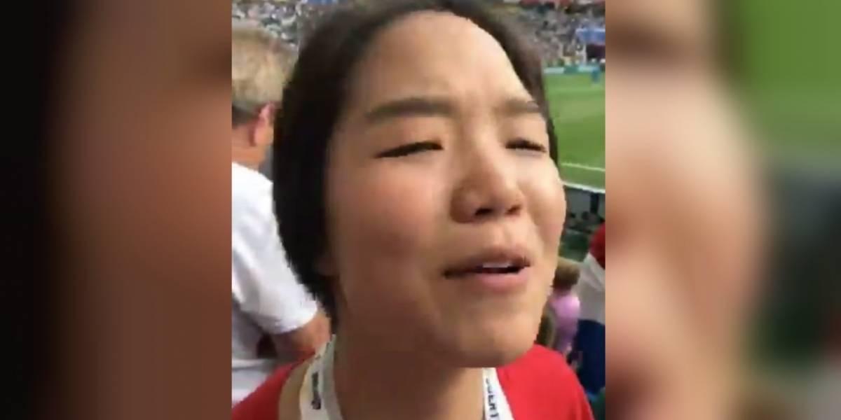 'Hablo español, pendejo': Coreana responde a broma de un mexicano en Mundial de Rusia 2018