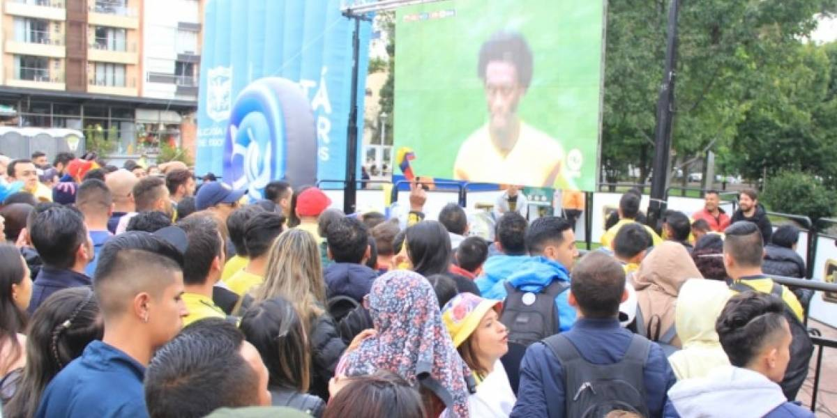 Cinco parques de Bogotá tendrán pantallas gigantes para ver el partido de Colombia vs Inglaterra