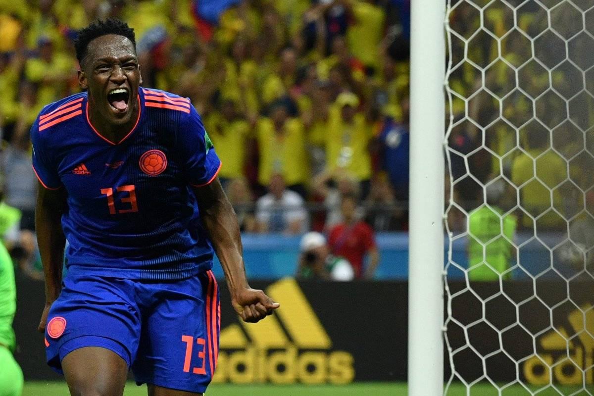 Yerri Mina puso en ventaja a los colombianos.