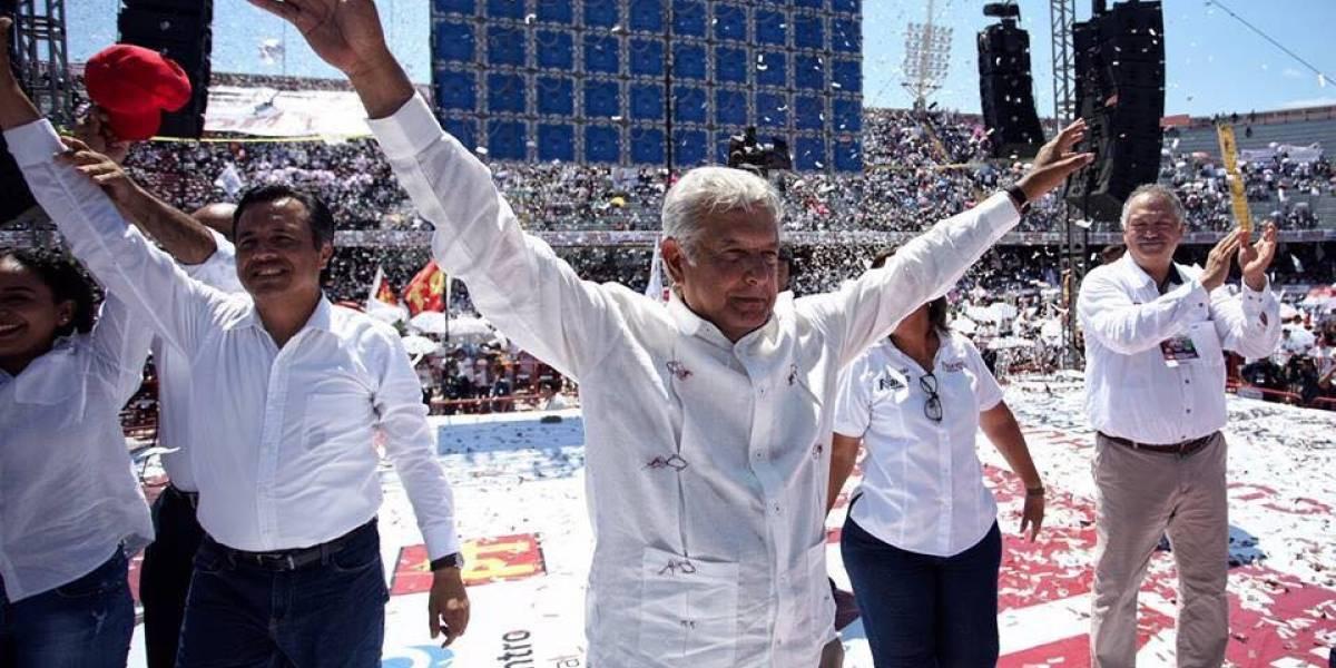 AMLO asegura victoria de Cuitláhuac García en Veracruz
