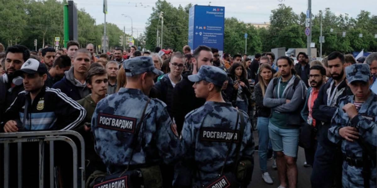 Aconsejan a los amantes del futbol no visitar el Fan Fest en Moscú