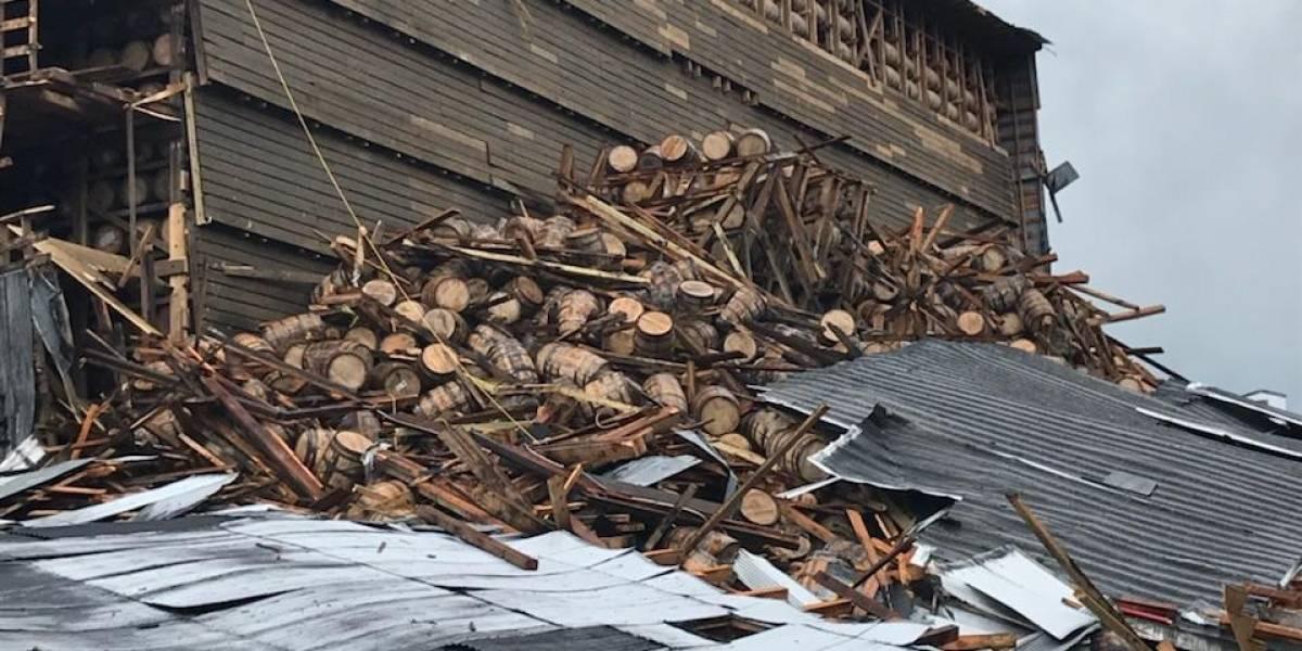 Esto no puede ser más doloroso: 18 mil barricas de whisky en el suelo tras colapso de bodega en Kentucky