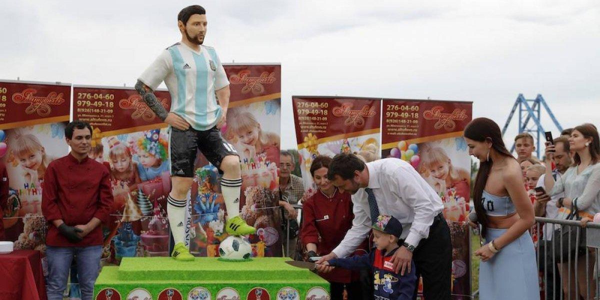 Pueblo donde se hospeda la albiceleste celebra el cumpleaños de Messi