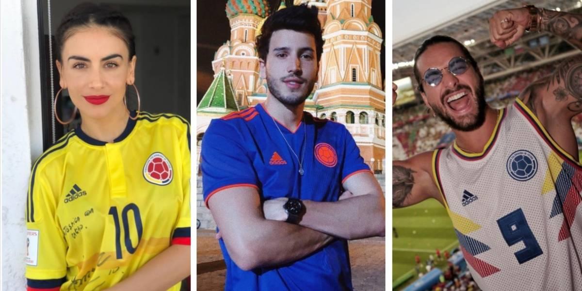 Al ritmo de vallenato, famosos celebran la victoria de Colombia en el Mundial de Rusia