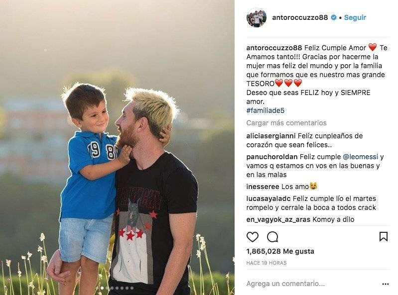 La romántica felicitación de Antonella para Messi por su cumpleaños Instagram Antonella Roccuzzo
