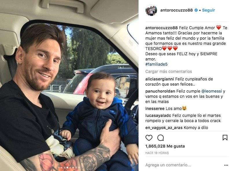 La romántica felicitación de Antonella para Messi por su cumpleaños Instagram Antonella Rocuzzo