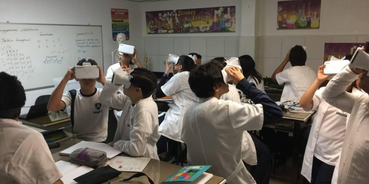 Colegio Amador introduce realidad virtual en las aulas