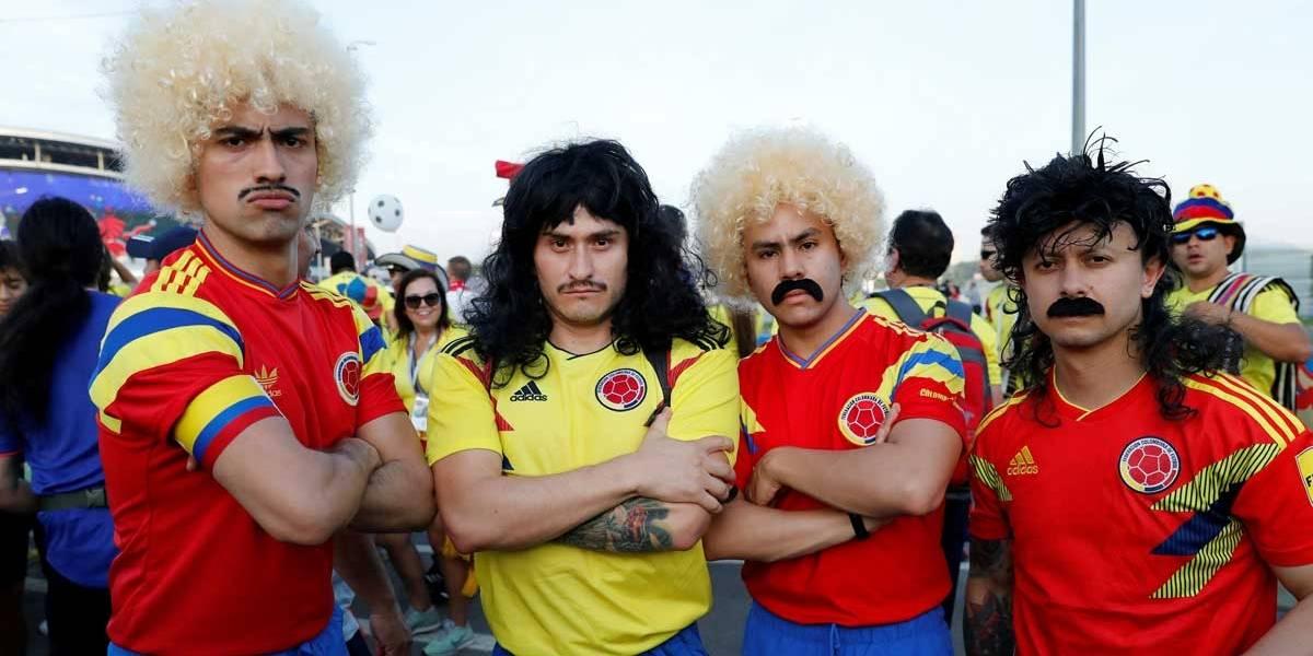 FOTOS: veja imagens dos torcedores do jogo Colômbia x Polônia